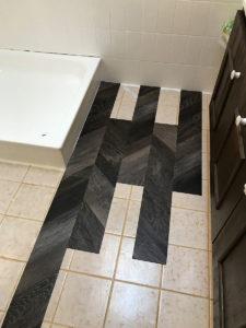 Vinylboden Badezimmer anfang